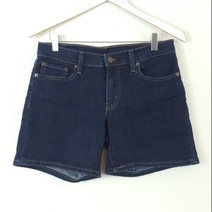 Levi's Dark Wash Denim Midi Length Shorts 28